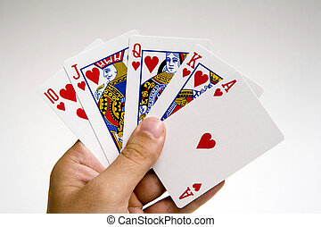 poker winning hand set - winning poker hand set against a...