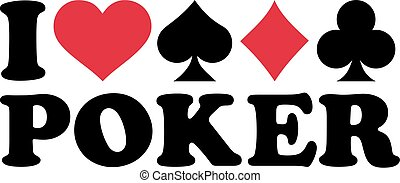 Poker with four suits of cards