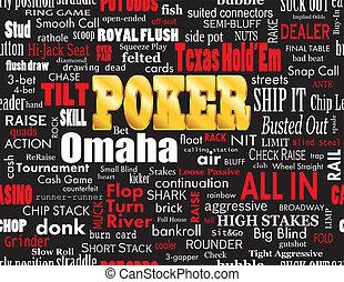 Poker Word Cloud on Black - Poker Word Cloud with Industry...