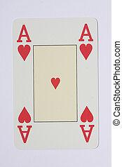 Pokercard - Pokerkarte - Ace Black Jack Card - Black Jack...