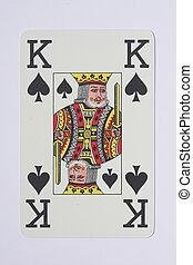 Pokercard - Pokerkarte - BlackJack Card König - Pokerkarte...