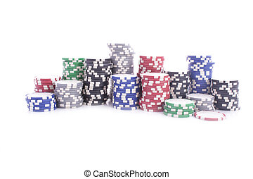 pokerchips, collorful