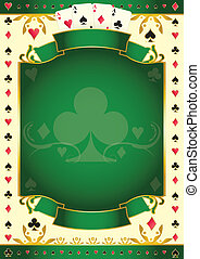 Pokergame green club background