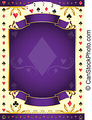 Pokergame purple background