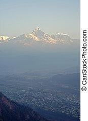 pokhara, nepal, fishtail, pico