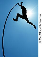 pokonać, życie, trudności, albo, pojęcie, ryzyko biorące, i, wyzwanie