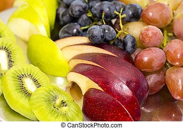 pokrojony, owoc