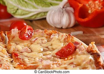pokrojony, pizza