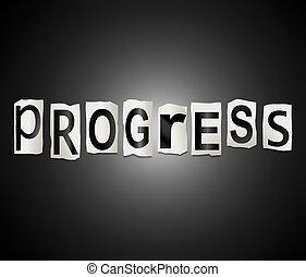 pokrok, concept., vzkaz