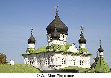 Pokrovsky Monastery in Kiev , Ukraine . - Church in the...