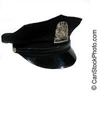 polícia, chapéu, girado