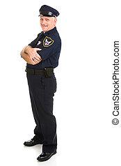 polícia, desenho, oficial, elemento