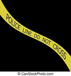 polícia, fitas
