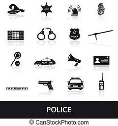 polícia, jogo, eps10, ícones