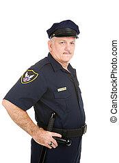 polícia, -, oficial, autoridade