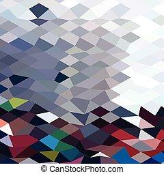 polígono, abstratos, onda, baixo, fundo, tidal