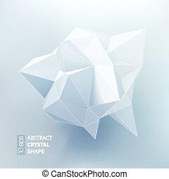 polígono, geometria, forma., ilustração, vetorial, baixo