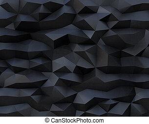polígono, patrón, resumen, triangulate, fondo negro
