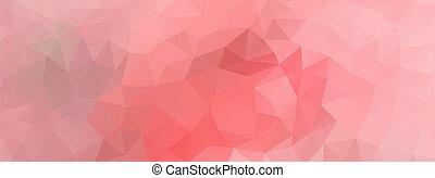 polígono, plano de fondo, pantalla ancha, rosa, luz