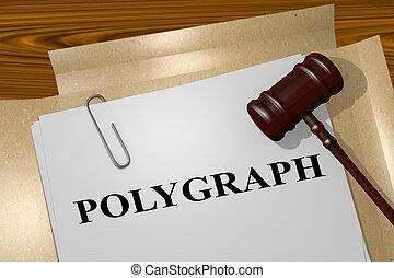 polígrafo, conceito, -, legal