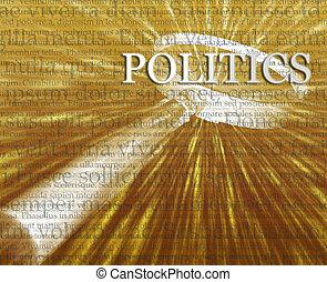 política, búsqueda, ilustración