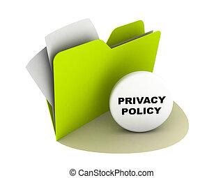 política, botão, privacidade