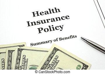 política, caneta, saúde, dinheiro, seguro
