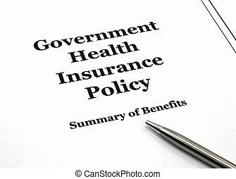 política, caneta, seguro saúde, governo