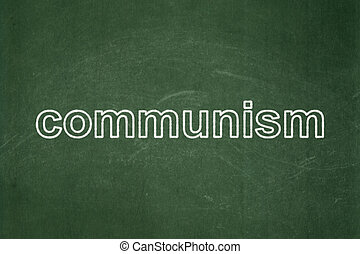 política, concept:, comunismo, ligado, chalkboard, fundo