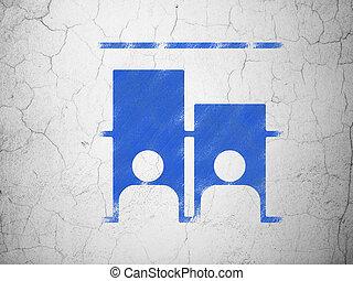 política, concept:, elección, en, pared, plano de fondo