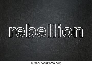 política, concept:, rebelião, ligado, chalkboard, fundo