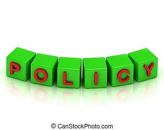 política, inscripción, color, cubos, verde