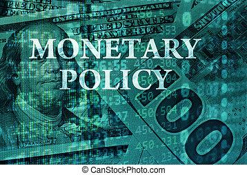 política, monetário