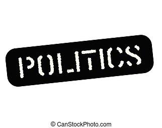 política, negro, estampilla