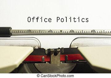 política, oficina