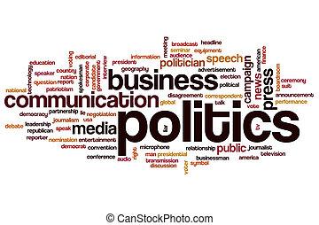 política, palabra, nube