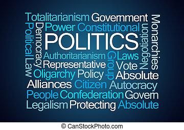 política, palavra, nuvem