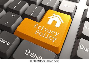 política, teclado, button., privacidade