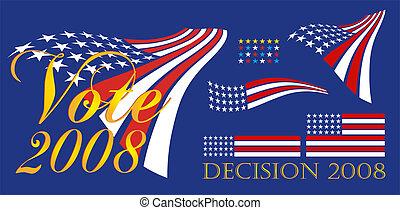 político, 2008, bandera