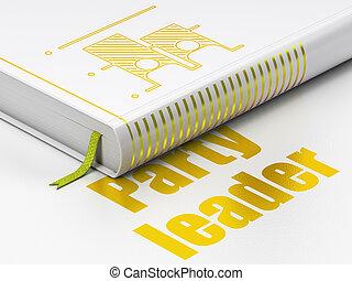 político, concept:, livro, eleição, partido, líder, branco, fundo