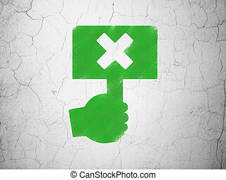 político, concept:, protesto, ligado, parede, fundo