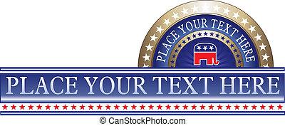 político, etiqueta, republicano