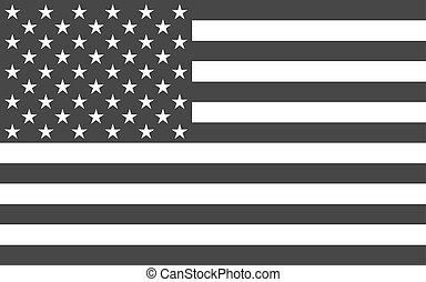 político, norteamericano, nacional, funcionario, bandera