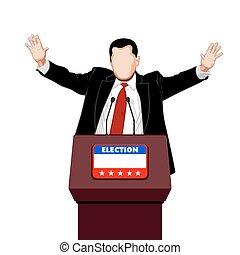 político, saudações
