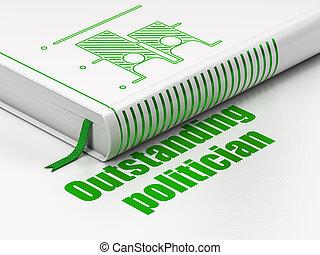político, sobresaliente, elección, libro, Plano de fondo, política, blanco,  concept: