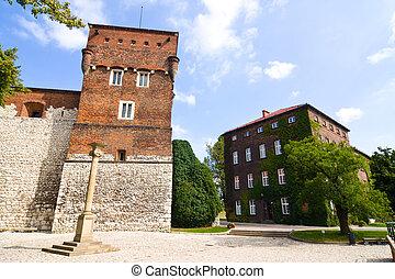 Polônia,  Krakow, castelo,  wawel