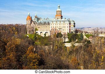 polônia, ksiaz, palácio, silesia