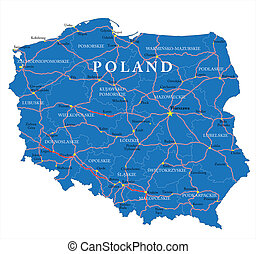 polônia, mapa