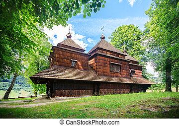 polônia, ortodoxo, smolnik, igreja