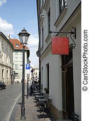 polônia, rua, krakow
